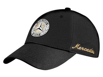 Mercedes-Benz Cap Damen, Classic schwarz, 100% Baumwolle