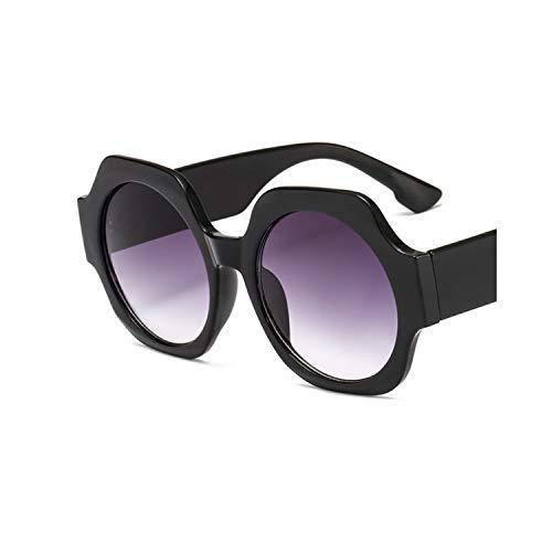 Sportbrillen, Angeln Golfbrille,NEW Sunglasses Oversized Round Retro Sun Glasses Men Women Big Size Transparent Clear Lenes Goggles Trend Luxury UV400 C1 Black Grey