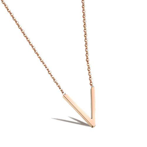 Rose Gold Halskette Mütter Tag Geschenk Initial Halskette 14k Gold