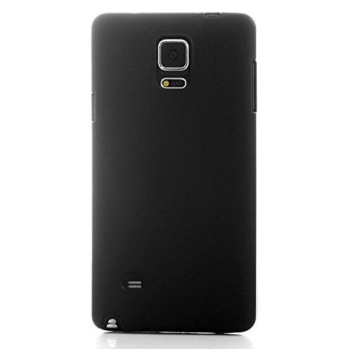 wkae Schutzhülle Case & Cover Double Frosted TPU Case für Samsung Galaxy Note 4 schwarz