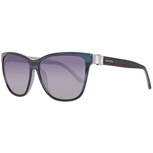 Swarovski Damen SK0121-5683W Sonnenbrille, Violett (Violet/Gradient Blue), 56