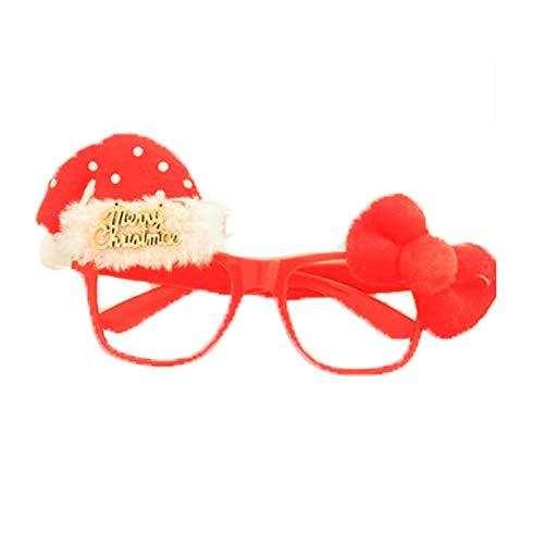 AAGOOD Ornamente Weihnachten-Glas-Rahmen Red Letters 1 PackChristmas Glas-Rahmen Bunte Brillen Nette P