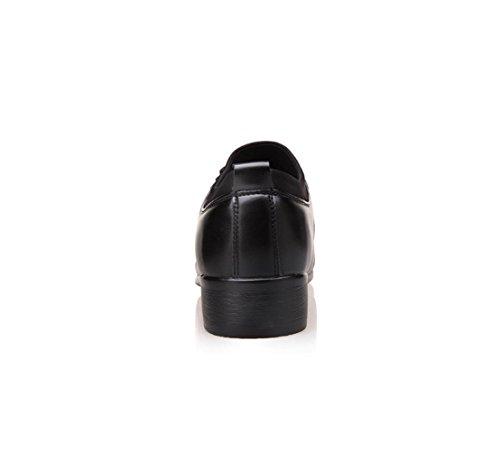 NSPX I pattini di cuoio genuini / pelle / pattini di cuoio di / pattini di affari di nuovo uomini / pattini di banchetto di cerimonia nuziale / pattini degli uomini comodi , 44 BLACK-40