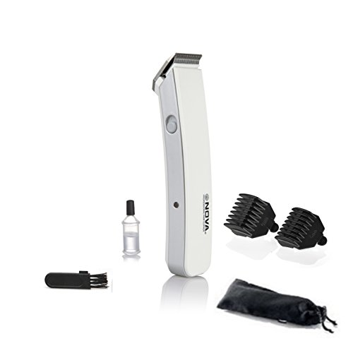 Nova NHT1046 Proffesional Rechargeable Cordless Beard Trimmer for Men (White)