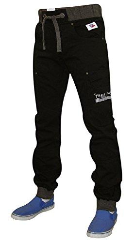 Nuovo design vero volto uomo Cargo Bermuda Pantaloni Casual estate Chino Jean Black 36W x 32L