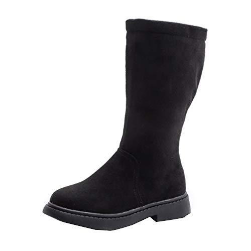 Jaysis Mädchen Langschaft Stiefel Hohe Stiefel, Unisex Junge Mädchen Stiefel und Stiefeletten Schuhe Schnee Kleinkind Winterschuhe Warm Klassisch Retro