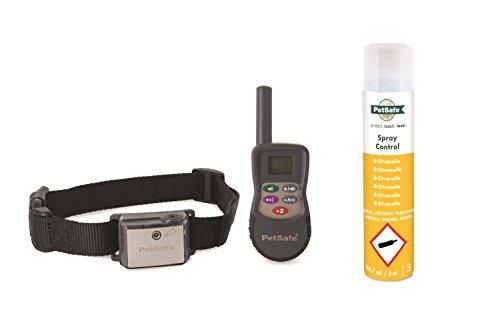 PetSafe Spray Erziehungshalsband mit Fernbedienung, 275m Radius, umweltfreundliches Zitronella Spray, Hunde aller Größen (Alle Band-antenne)