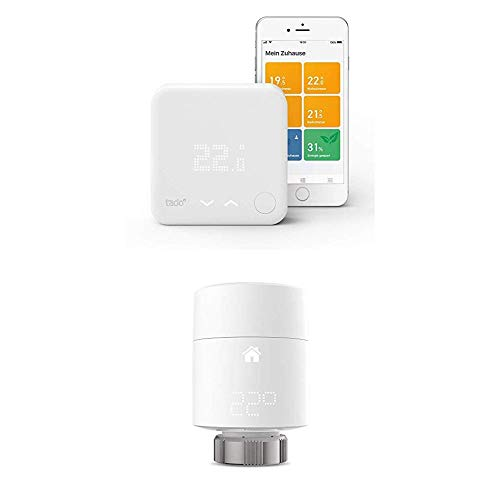 tado° Smart Thermostat Starter Kit V3+ & Smart Radiator Thermostats (Vertical Mounting)