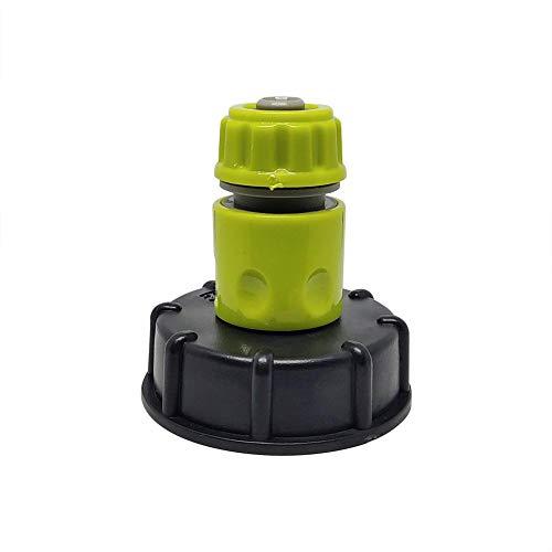 AEROBATICS IBC-Wassertank-Gartenschlauchadapter,Außengewinde-Zubehör für IBC-Kunststofftank-Gartenschlauchadapter Zubehör Werkzeuge Wassertank Yard Gartenhahn Schlauchventil Adapter Fittings