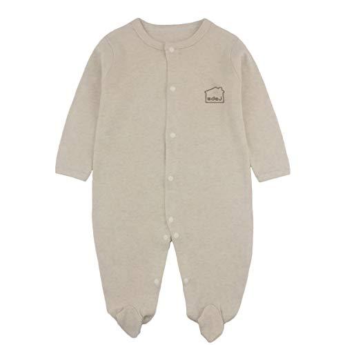 Anywow Neugeborenen Unisex Baby Spielanzug Pyjamas Langarm Footie Nachtwäsche Onesie Overalls Strampler Bodysuit 0-12 Monate Footie Sleeper