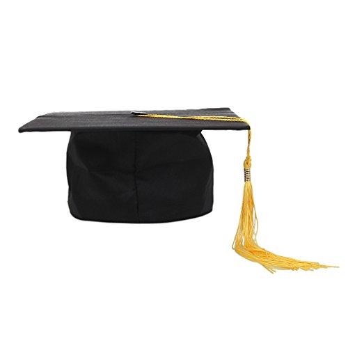 achelor Master College Uni Absolvent Studenten Graduation Cap Diplomhut Uni Abschlussfeier Abitur - Gelb, wie beschreiben (College Absolvent Kostüm)