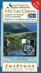 Chepstow and Cardiff to Builth Wells: National Cycle Network (Official Route Map & Guide) por Footprint