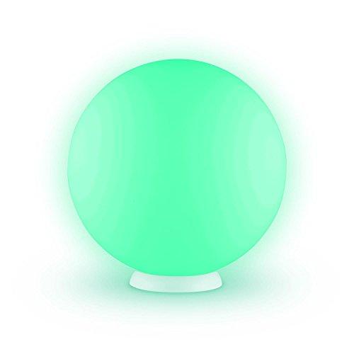Blumfeldt Sfera LED Galleggiante 40 cm (Illuminazione Giardino o Piscina, 16 LED Colorati RGB, 4 Colori Differenti, Batteria al Litio, Telecomando Incluso)