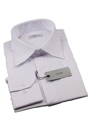Mille et une cravates - Chemise de Cérémonie CF Blanche Striée Diagonale - 37, Blanc