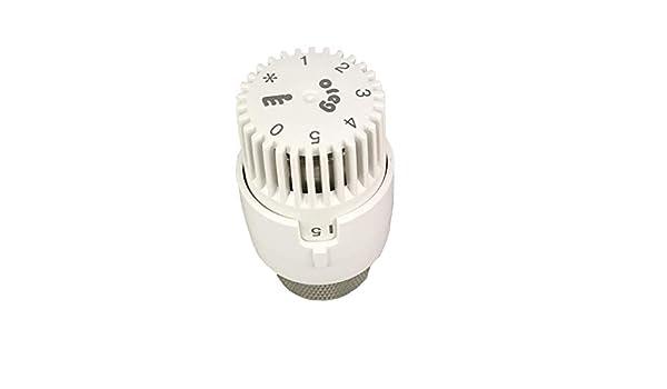 Oreg Thermostatkopf ET 30 Wei/ß fester F/ühler nach EN 215
