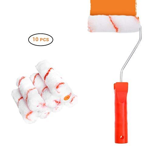 AimdonR Paint Roller&Pinsel -8 Piece Paint Set:Roller Paint Brush,Tray,Pinsel,Walzenbezüge*5 ,Neues Pinselset -