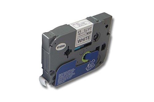 vhbw® Schriftband Kassette für Brother TZ-231, TZE-231 P-Touch D400, D400VP, D450, D450VP, D600, D600VP Maße: 12 mm x 8 m