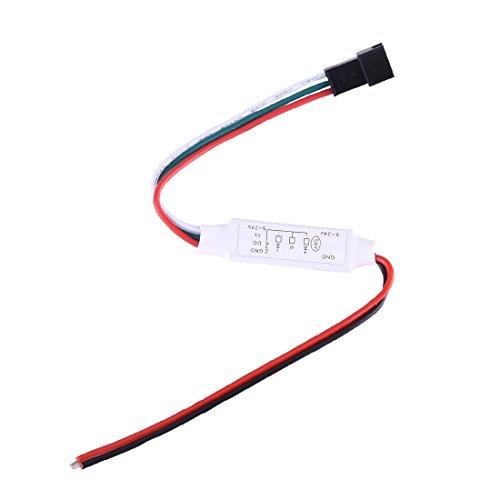 Light Controller, Mini Color Intrigue LED Controller avec Fonction de mémoire, Support IC 2811 2812 1903 6803 6812 6822 etc, DC 5-24V