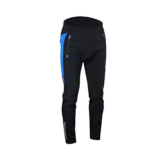 Lixada Pantalon Cycliste Homme Outdoor Cycliste Sport d'hiver Pantalons Confortables et Respirantes avec Coussin rembourré (XXL, Bleu)