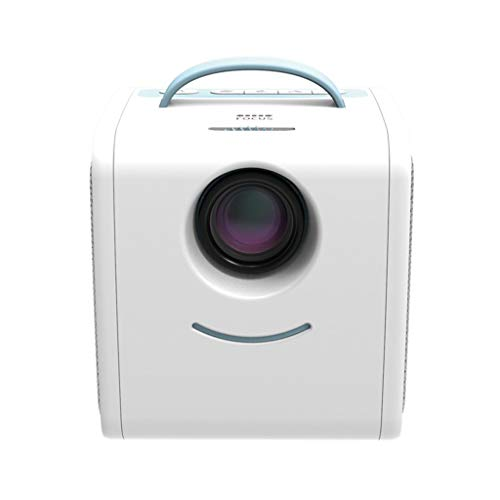 Mini Kinderprojektor, CHshe Kinder LED-Projektor, Full HD 1080P Videoprojektor mit Fernbedienung für Kinder,Cube Kinder Cartoon geschichten projektor, Augenschutz, Zwei HiFi-Lautsprecher