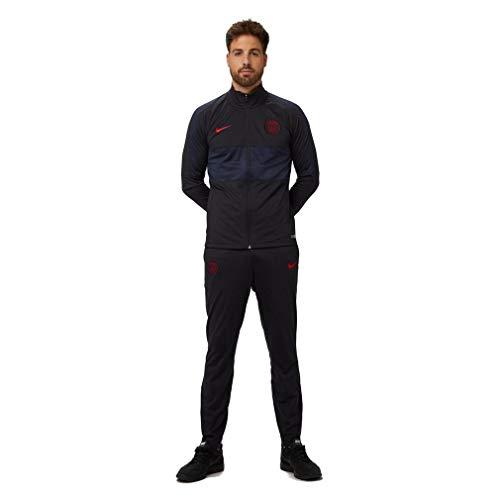 Nike Herren PSG M Nk Dry Strk TRK Suit K Trainingsanzug, Grau/Rot Oil Grey/University red, S
