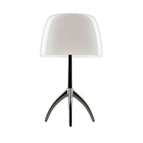 Foscarini Lampe de table Foscarini Lumiere 05 Piccola – Aluminium/Blanc