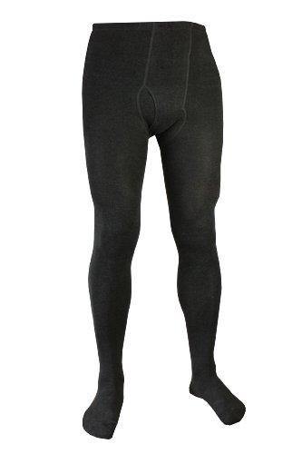 Herren Warme Strumpfhosen (Weri Spezials Herrenstrumpfhose mit Eingrif in Anthrazit, Gr. 54-56)