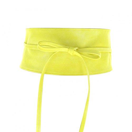 Fashiongen Damen Gürtel, Gelb, Einheitsgröße