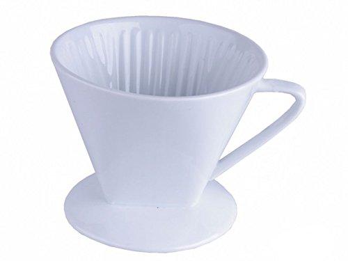 Porzellan Kaffeefilter Halter Größe 4 - weiß - Filterhalter - Kaffeefilteraufsatz -...
