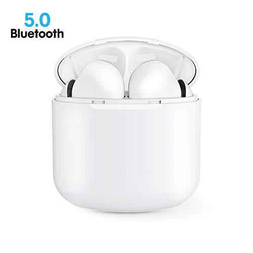Ecouteur Bluetooth, Casque sans Fil Mini Oreillettes Bluetooth 5.0 Sport Écouteurs in-Ear avec Mic avec étui de Chargement Portable pour Samsung iPhone 6 7 8 X Sony iPad etc.