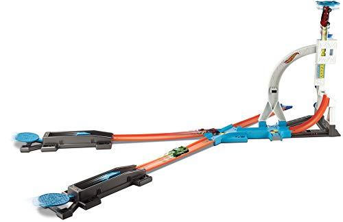 MATTEL Hot Wheels dlf28-Track Builder Stunt Kit, parte Tren , Modelos/colores Surtidos, 1 Unidad