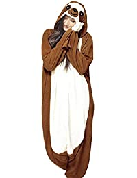 833a5b633 Unisex Adult Animal Cosplay Costumes New Sloth Pajamas Homewear Onesie