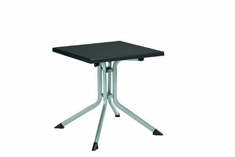 Kettler 0307013-0000 Table pliante Aluminium-Kettalux 70 x 70 cm (Argenté/gris) (Import Allemagne)