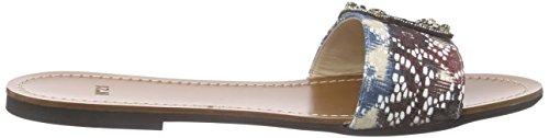 Unbekannt 8795, Sandales Plateforme femme Multicolore - Mehrfarbig (MULTICOLOUR)