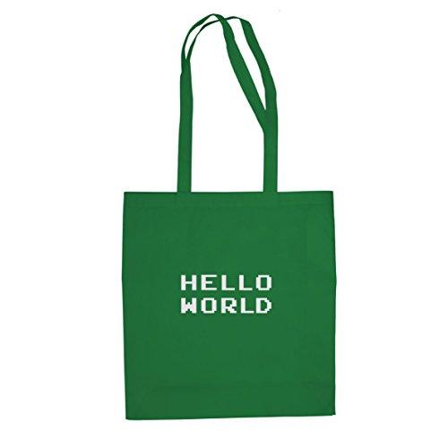 Hello World - Stofftasche / Beutel Grün