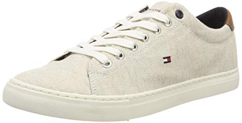 Tommy Hilfiger Herren Seasonal Textile Sneaker, Weiß (White 100), 42 EU