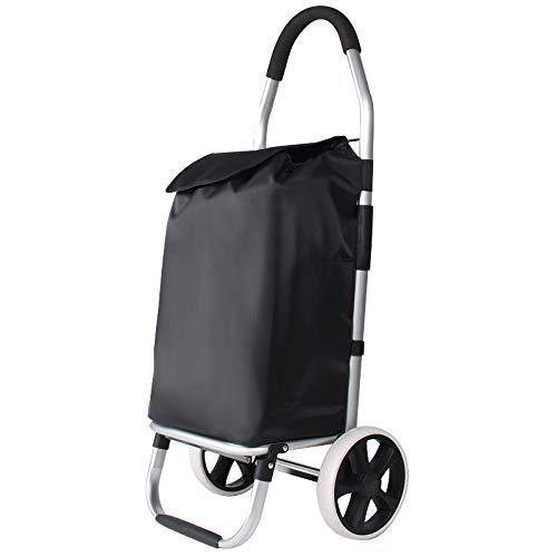 DCRYWRX Faltender tragbarer Einkaufswagen, leichtes kaufendes Gemüse, das Karren-leichte fahrbare Einkaufslaufkatzen-Beutel zieht