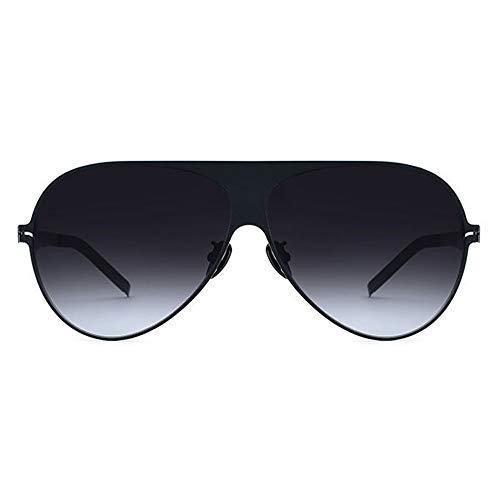 WWFF Ultraleichte Titanlegierung Brille Weiblich Polarisierte Sonnenbrille Männer Schwarz Großen Rand Mode Brille Grau Objektiv UV400 Schutz