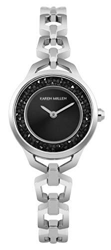 Karen Millen Reloj Analógico para Unisex Adultos de Cuarzo con Correa en Acero Inoxidable KM171SM