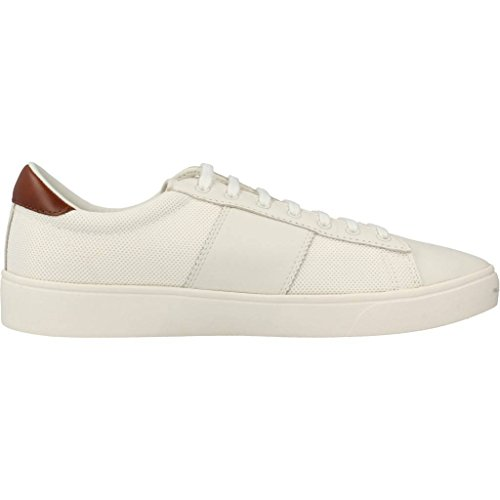 Fred Perry Spencer Mesh Leather Porcelana Blanco B1202254, Scarpe Sportive Blanc