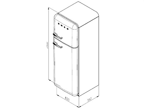 Smeg FAB30LV1  Retro Kühlschrank - 2