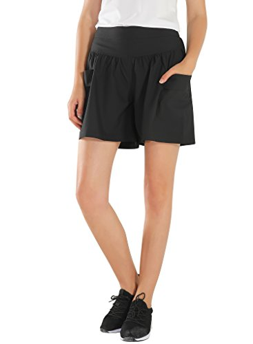 Damen Shorts Sommer Kurze Hosen High Waist Hot Pants Lose Beach Stoff Short Hosenrock Kurz