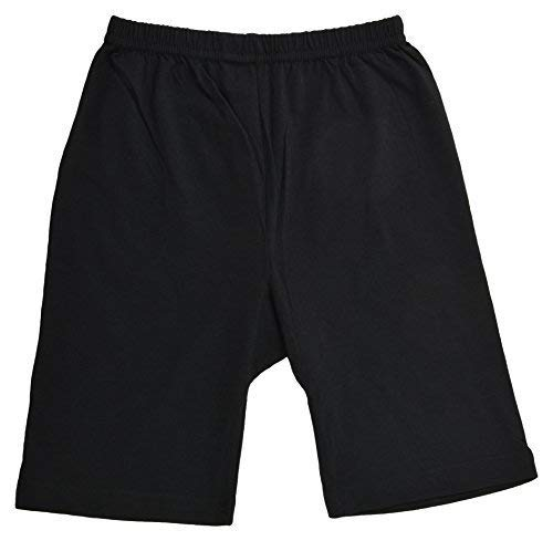 fasla Pure Cotton Cycling Shorts for Girls & Kids (Pack of 3 Black) Year 8 to 9
