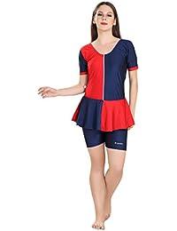 Rovars Swimming Costume for Women - Frock [Half Sleeves- Half Length]