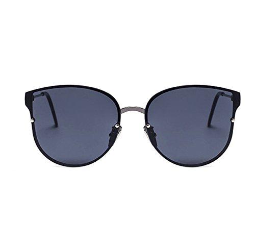 HAOYUXIANG Mode Individualität Metall Reflektierendes Sonnenbrillen,C6