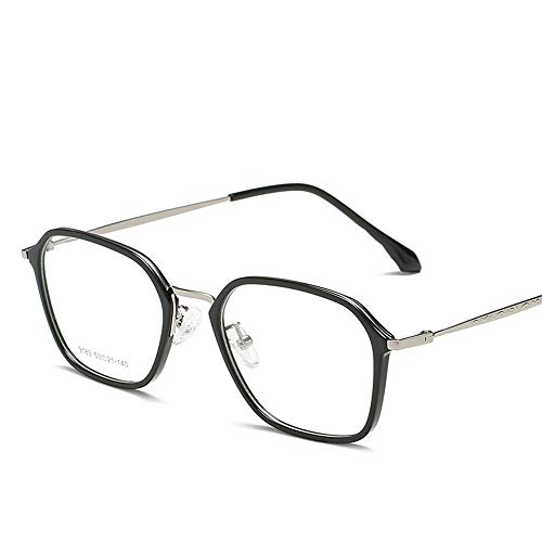 Yiph-Sunglass Sonnenbrillen Mode Flat Lens Optical Frames Die Retro-quadratischen Glasrahmen Männer und Frauen LUE Shading Brille für Studenten
