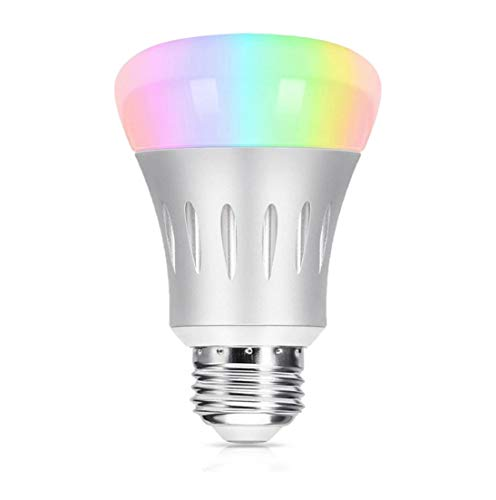 Smart WiFi Light Bulb, Hompie 7W E27(=E26) RGB & White LED Bulbs 60W Equivalent Works with Amazon Alexa Echo Remote Control by Smartphone.16 Million Dimmable Colours Changing For Christmas Party