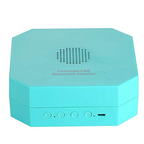 LBYMYB Kabelloser Bluetooth-Lautsprecher EIN Nachtlicht Bluetooth-Lautsprecher Faltbar Hängendes mobiles Nachtlicht Sound 2 in 1 Creative klingen (Color : Blue)