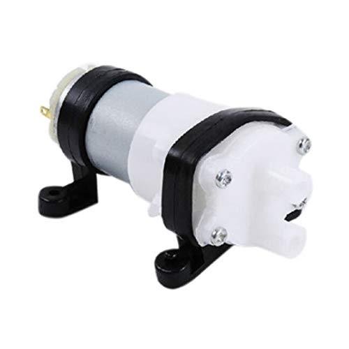 LouiseEvel215 DC6-12V Membranpumpe Multifunktions 385 Wasserpumpe mit Halterung Aquarium Pumpe Motor für Auto Peeling Korn Öl Mini Pumpe