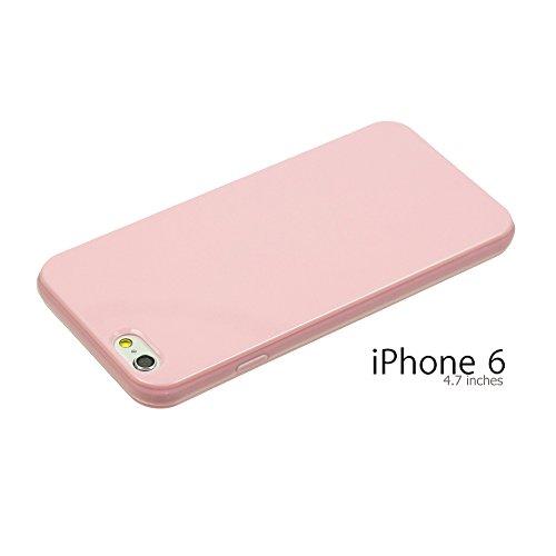 OBiDi - Colorful Soft Gel Case / Housse pour Apple iPhone 6 / 6S (4.7 inch)Smartphone - Lightpurple avec 3 Film de Protection Lightpurple